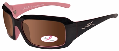 Wiley X Lacey Safety Sunglasses with Cotton Candy Frame and Polarized Bronze Lens