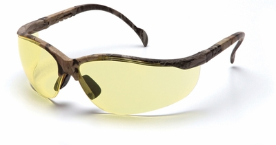 Pyramex Venture 2 Safety Glasses with Realtree Frame and Amber Lens