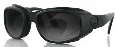 Bobster Sport & Street Black Frame 3-Lens Motorcycle Sunglasses Kit