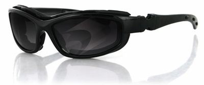 Bobster Road Hog II Black Frame 4-Lens Motorcycle Sunglasses Kit