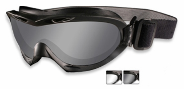 Wiley X Nerve Ballistic Goggle with Black Frame and Smoke Grey & Clear lenses
