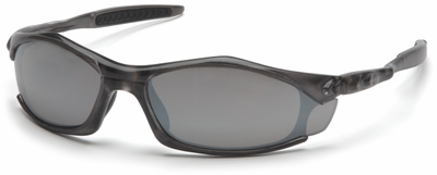 Pyramex Solara Safety Glasses with Gray Frame and Silver Mirror Lens