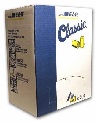 EAR Classic Uncorded Earplugs NRR-29 (200-Pr Box)