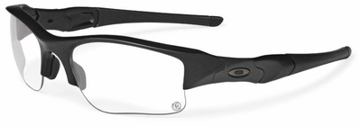 Oakley SI Flak Jacket XLJ Sunglasses with Matte Black Frame and Clear/Grey Transitions Lenses