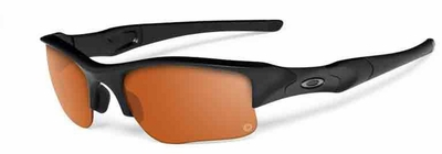 Oakley SI Flak Jacket XLJ with Matte Black Frame and Persimmon/Grey Transitions Lenses