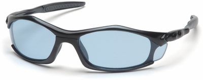 Pyramex Solara Safety Glasses with Black Frame and Infinity Blue Lens