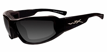 Wiley-X Jake Safety Sunglasses with Gloss Black Frame and Smoke Grey Lens