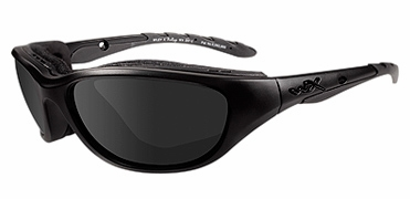 Wiley-X AirRage Black Ops Safety Sunglasses with Matte Black Frame and Smoke Grey Lens
