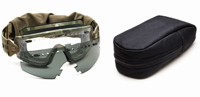 Smith Elite LoPro Regulator Tactical Goggle Kit with MultiCam Frame and Clear and Gray Lenses