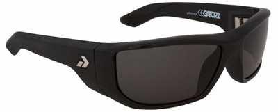 Gatorz Vudu Sunglasses with Black Frame and Grey Lens