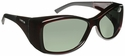 Haven Balboa OTG Sunglasses with Large Gloss Wine Frame and Gray Polarized Lens