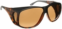 Haven Banyan OTG Sunglasses with XLarge Matte Tortoise Frame and Amber Polarized Lens