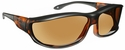 Haven Hunter OTG Sunglasses with Large Matte Tortoise Frame and Amber Polarized Lens