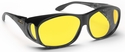 Haven Meridian OTG Sunglasses with Medium Black Frame and Yellow Polarized Lens