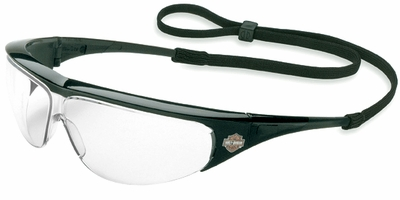 Harley Davidson HD400 Safety Glasses with Black Frame and Clear Lens
