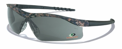 Crews Dallas Safety Glasses with Mossy Oak Camo Frame and Gray Lens