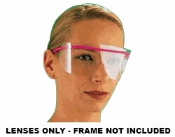 TIDI Resposables Eyeshield Disposable Clear Lens Dispens-A-Lens 100/Box