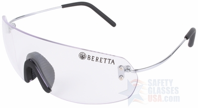 Beretta Youth Shooting Glasses with Wire Temple and Clear Lens