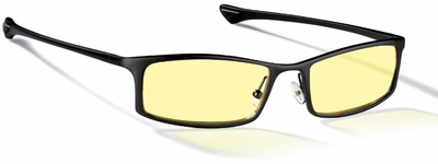 Gunnar Phenom Digital Performance Eyewear with Onyx Frame and Amber Lens