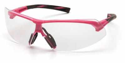 Pyramex Onix Safety Glasses with Pink Frame and Clear Lens