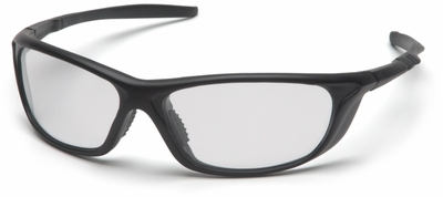 Pyramex Azera Safety Glasses with Black Frame and Clear Lens