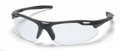 Pyramex Avante Safety Glasses with Black Frame and Clear Lens