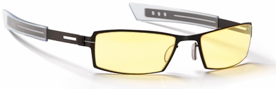Gunnar Paralex Digital Performance Eyewear with Gloss Onyx Frame and Amber Lens