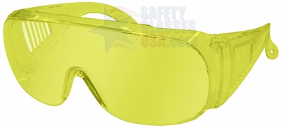 Radians Chief Overspec Safety Glasses with Amber Lens