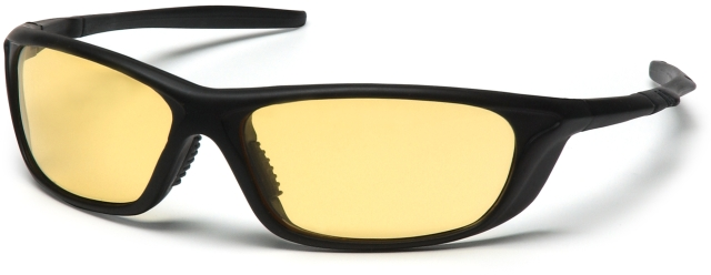 Pyramex Azera Safety Glasses with Black Frame and Amber Lens