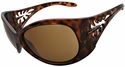 Vast Pili Women's Safety Sunglasses with Tortoise Frame and Brown Lens