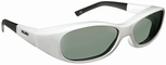 Haven Avalon OTG Sunglasses with Small Gloss White Frame and Gray Polarized Lens