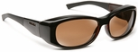 Haven Solana OTG Sunglasses with M/L Tortoise Frame and Amber Polarized Lens