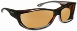 Haven Foxen OTG Sunglasses with M/L Tortoise Frame and Amber Polarized Lens