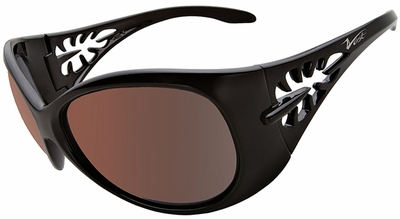 Vast Pili Women's Safety Sunglasses with Black Frame and Copper Driving Lens