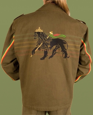 Rasta Army Jacket
