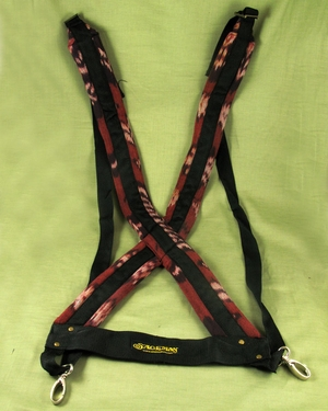 Red Crossback Harness