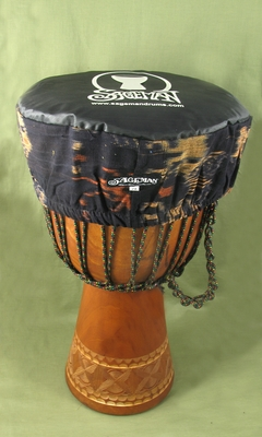 Brown Ikat Djembe Headcover