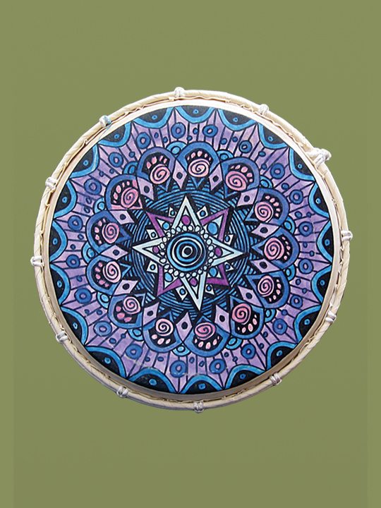 "12"" Frame Drum Hand Painted"