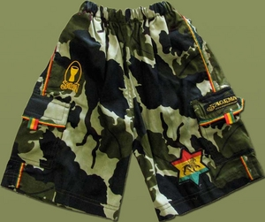 Kids Camo Rasta Shorts