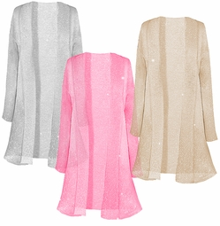 New! Pretty Sparking Sheer Plus Size & Supersize Jackets 0x 1x 2x 3x 4x 5x 6x 7x 8x