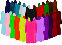 Solid Color Slinky Plus Size & Supersize Customizable A-Line Shirts Jackets or Dusters Lg XL 0x 1x 2x 3x 4x 5x 6x 7x 8x 9x