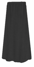 CLEARANCE! Lovely Plain Solid Black or Navy Poly/Cotton Elastic Waist Plus Size Skirt 1x 2x 3x 4x 5x 6x Extra Long