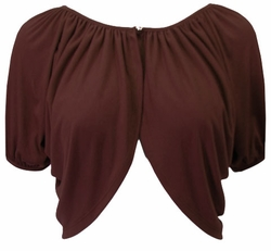 Brown Yummy Soft Short Sleeve Plus Size Supersize Shrug  XL 0x 1x 2x 3x 4x 5x 6x 7x