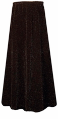 SALE! Beautiful Shimmering Black Glimmer Long Flowing Plus Size Skirt 1x 2x 3x 4x 5x 6x 7x 8x 9x