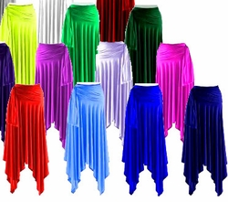 Sexy Slinky Handkerchief Skirts All Colors! Plus Size & Supersize 1x 2x 3x 4x 5x 6x 7x 8x 9x