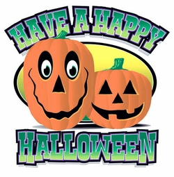 FINAL SALE! Happy Halloween Pumpkin Plus Size & Supersize T-Shirts S M L XL 2x 3x 4x 5x 6x 7x 8x  (Lights Only)