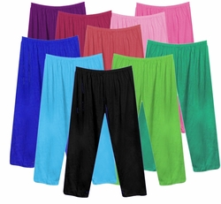 SALE! CUSTOMIZABLE Poly/Cotton Long Pants Shorts, Capri's or Skirts Plus Size Supersize 1x 2x 3x 4x 5x 6x 7x 8x  Many Colors!