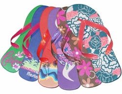 FINAL SALE! Fun Flip Flops Green Blue Sunrise Purple Chocolate Pink or Turquoise Floral 5 6 7 8
