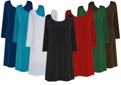 SALE! Solid Color Slinky Plus Size & Supersize Shirts 4x 5x 6x