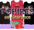 PLUS SIZE T-SHIRTS on CLEARANCE!